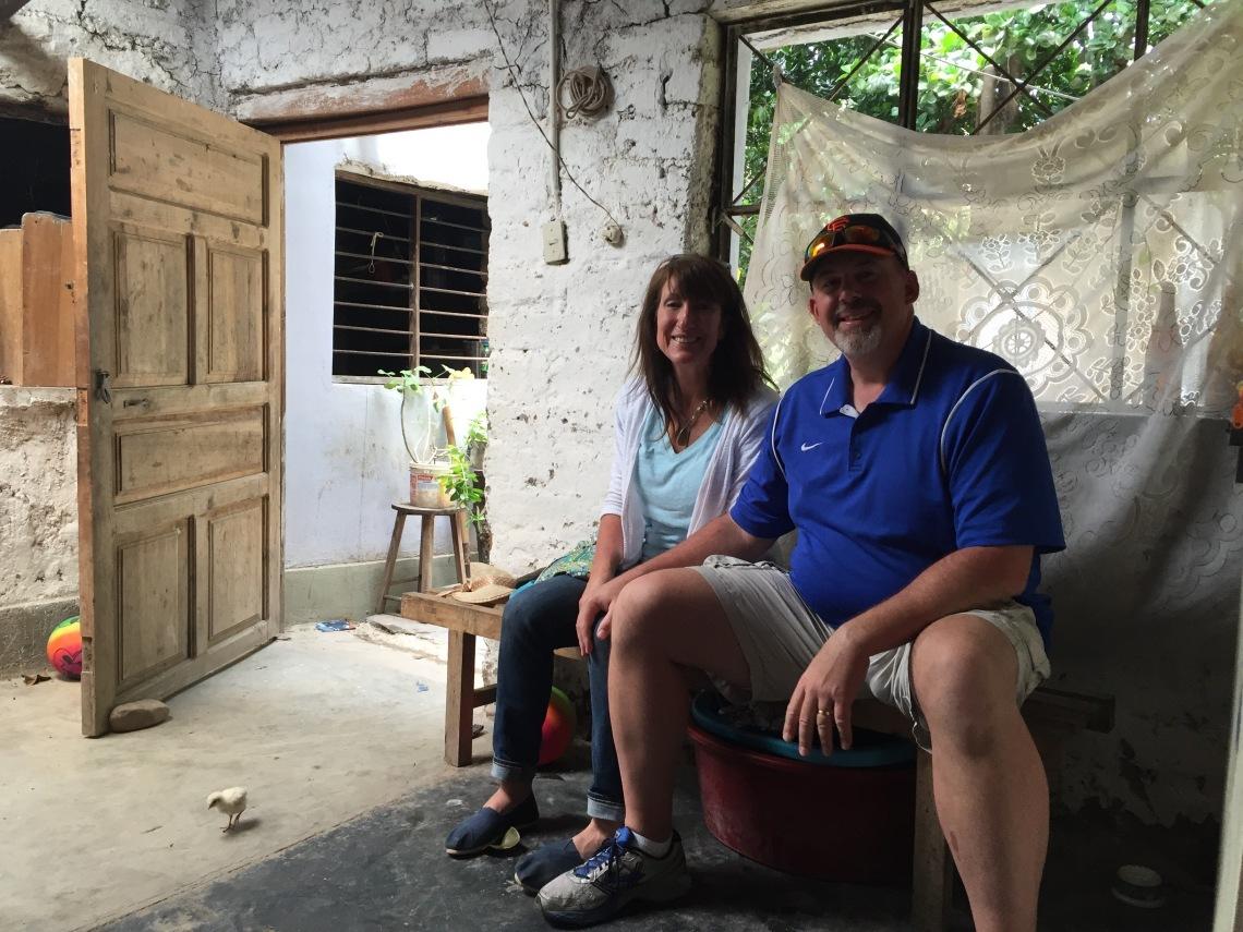 Parents visit Peace Corps Peru campo house Cajamarca