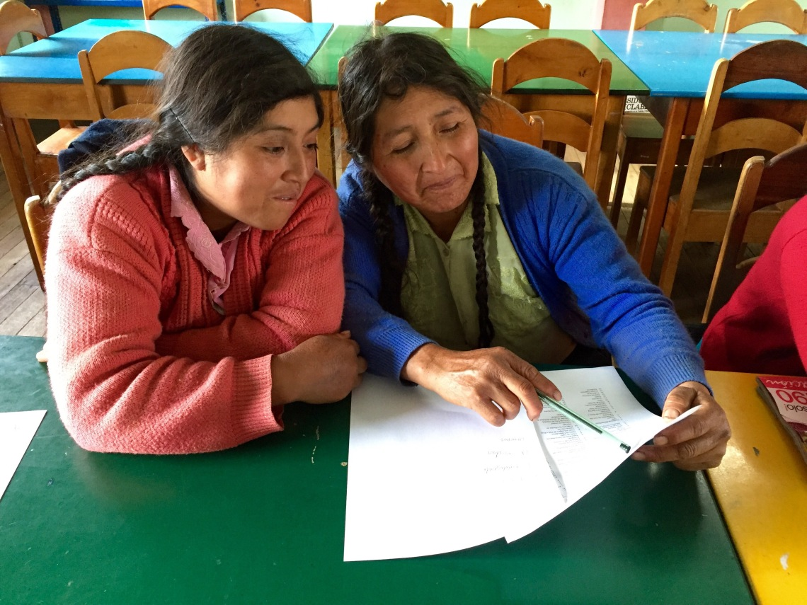 women working on business plan peace corps peru