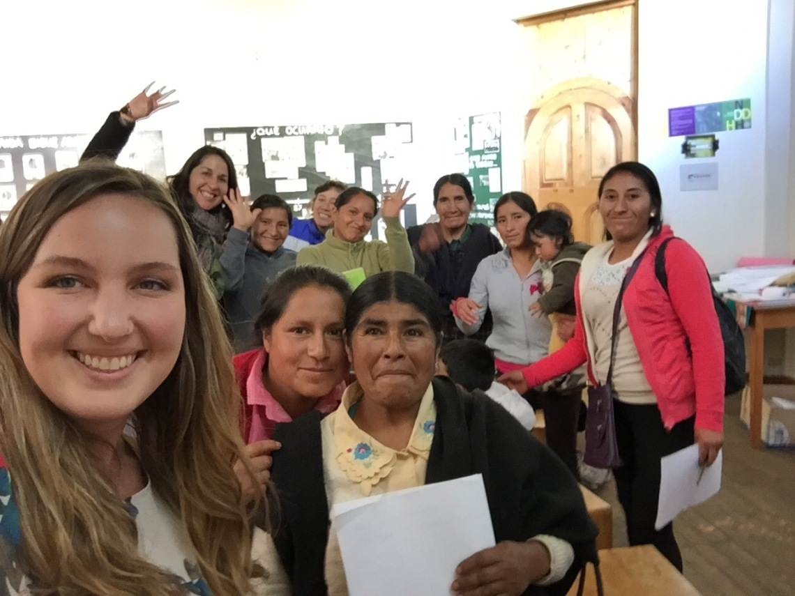 Peace Corps Peru IGA Womens Empowerment Workshop Selfie