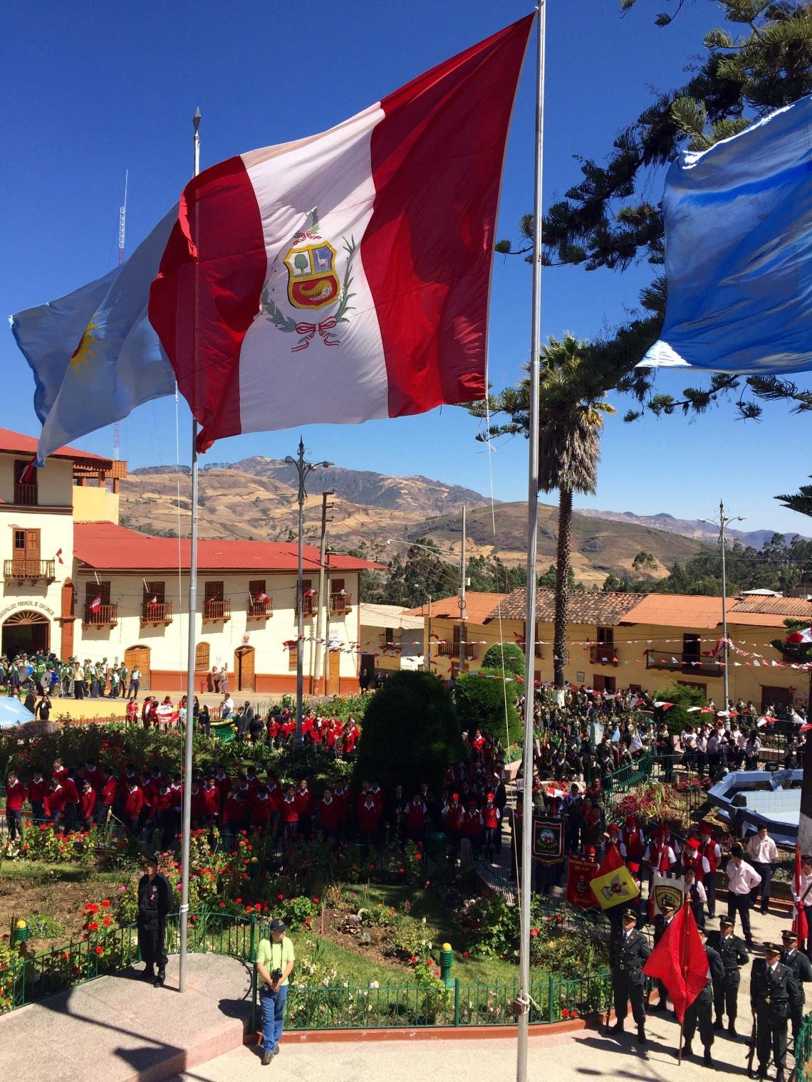 Peruvian flag Fiestas Patrias 2016 Peruvian Independence