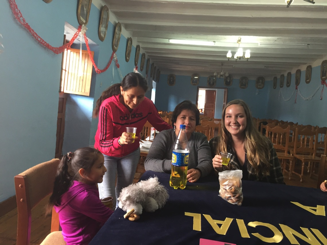 Sharing Inka Kola and rosquitas Peace Corps Peru