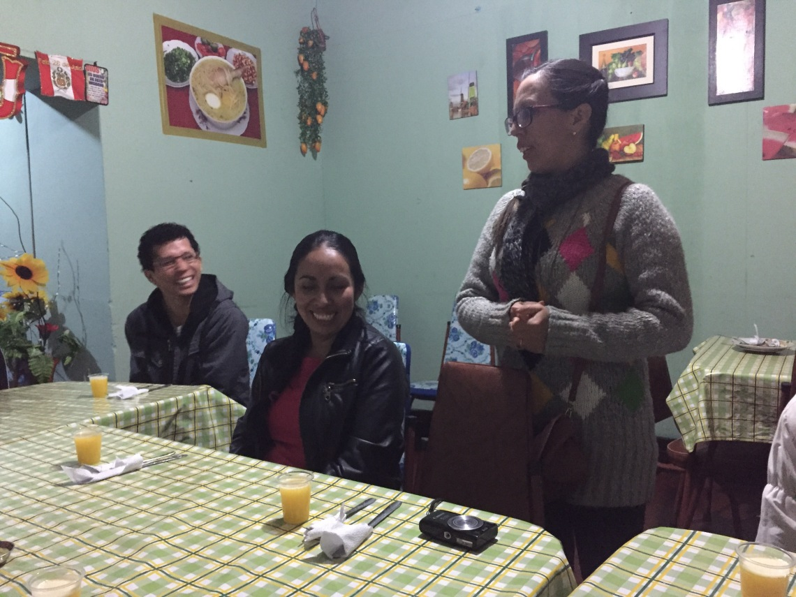 Giving palabras in Peace Corps Peru