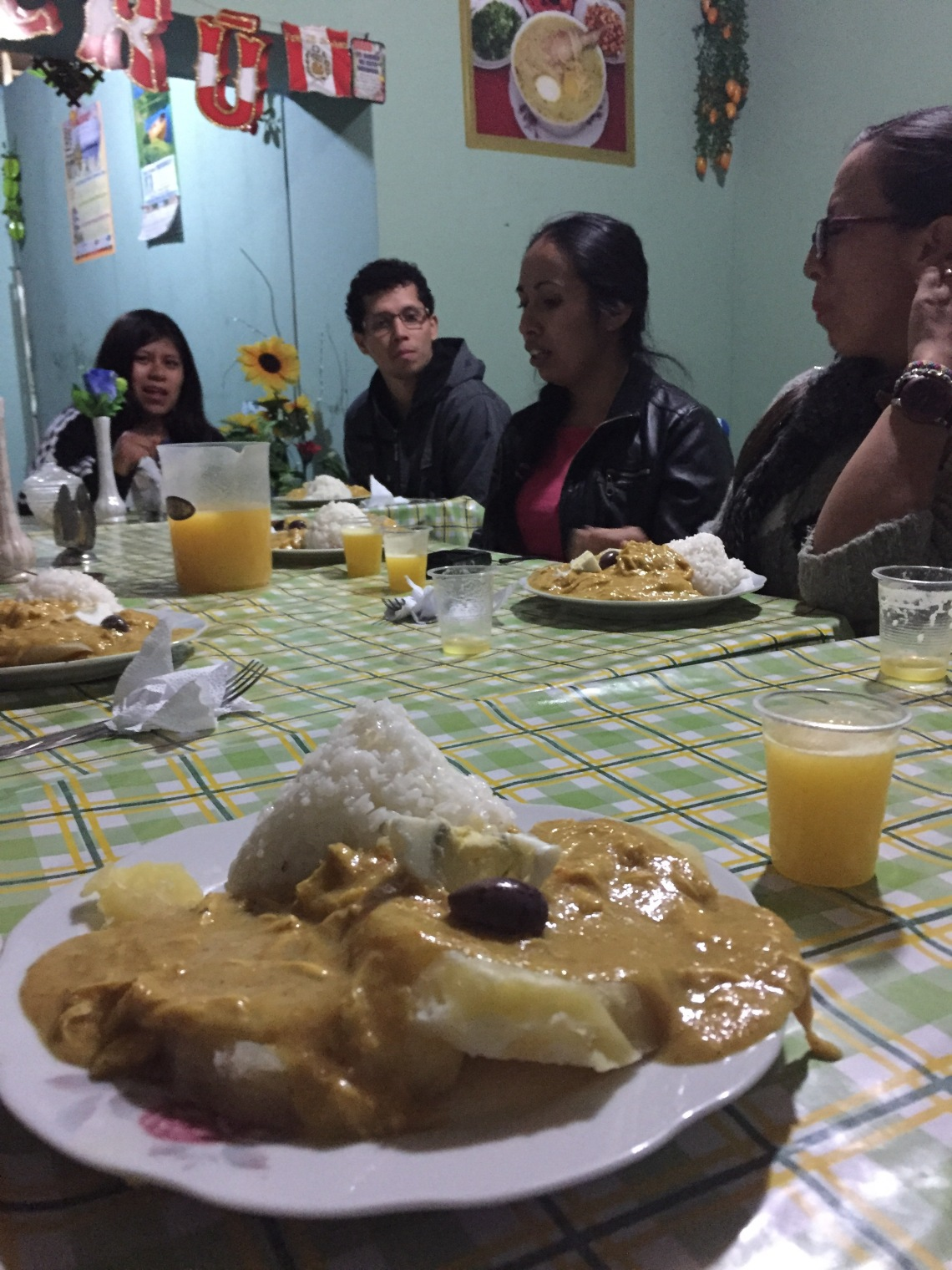 Aji de Gallina typical food of Peru Peace Corps