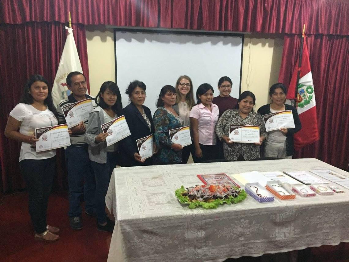 Peace Corps Community Economic Development Peru Volunteer Class Awards