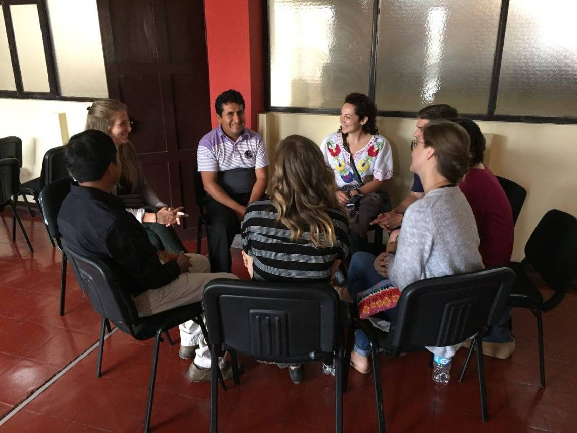 talking about community banks in moche peru peace corps pst