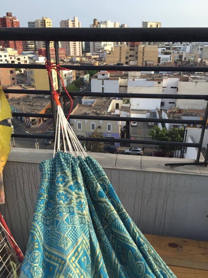 Peace Corps Peru rooftop hammock relax