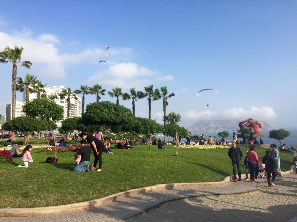 Lima Peru costa verde parque de amor sunny day Peace Corps