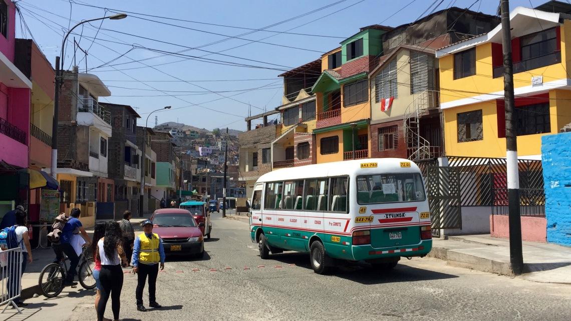 Rimac Lima Peru combi public transportation Peace Corps volunteer