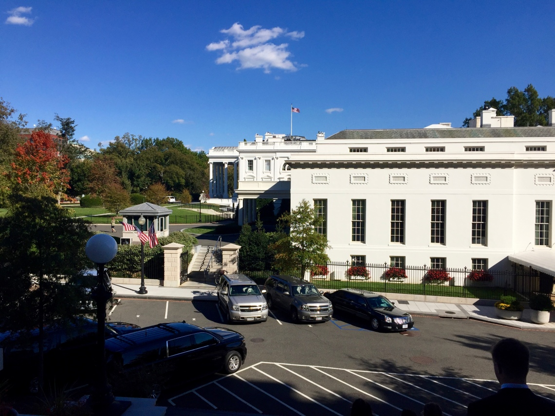 View of the West Wing from the White House Executive Office Peace Corps Blog It Home