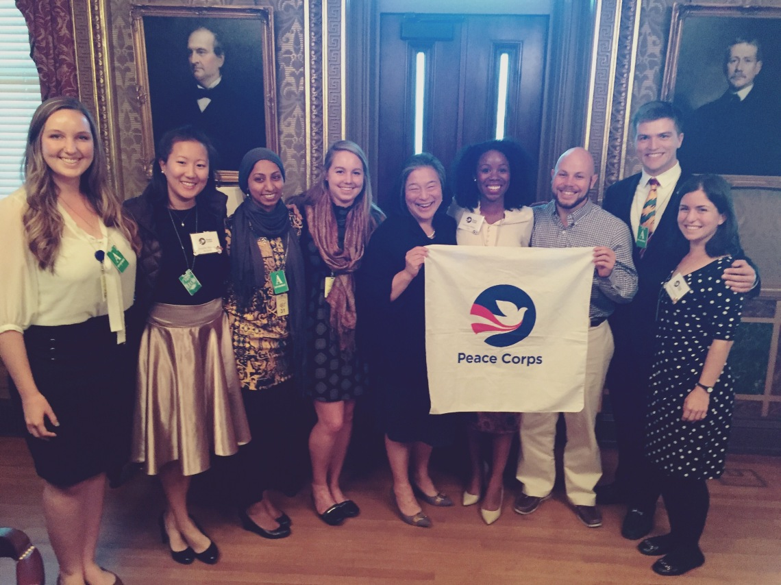 Peace Corps Blog It Home Winners with Tina Tchen White House