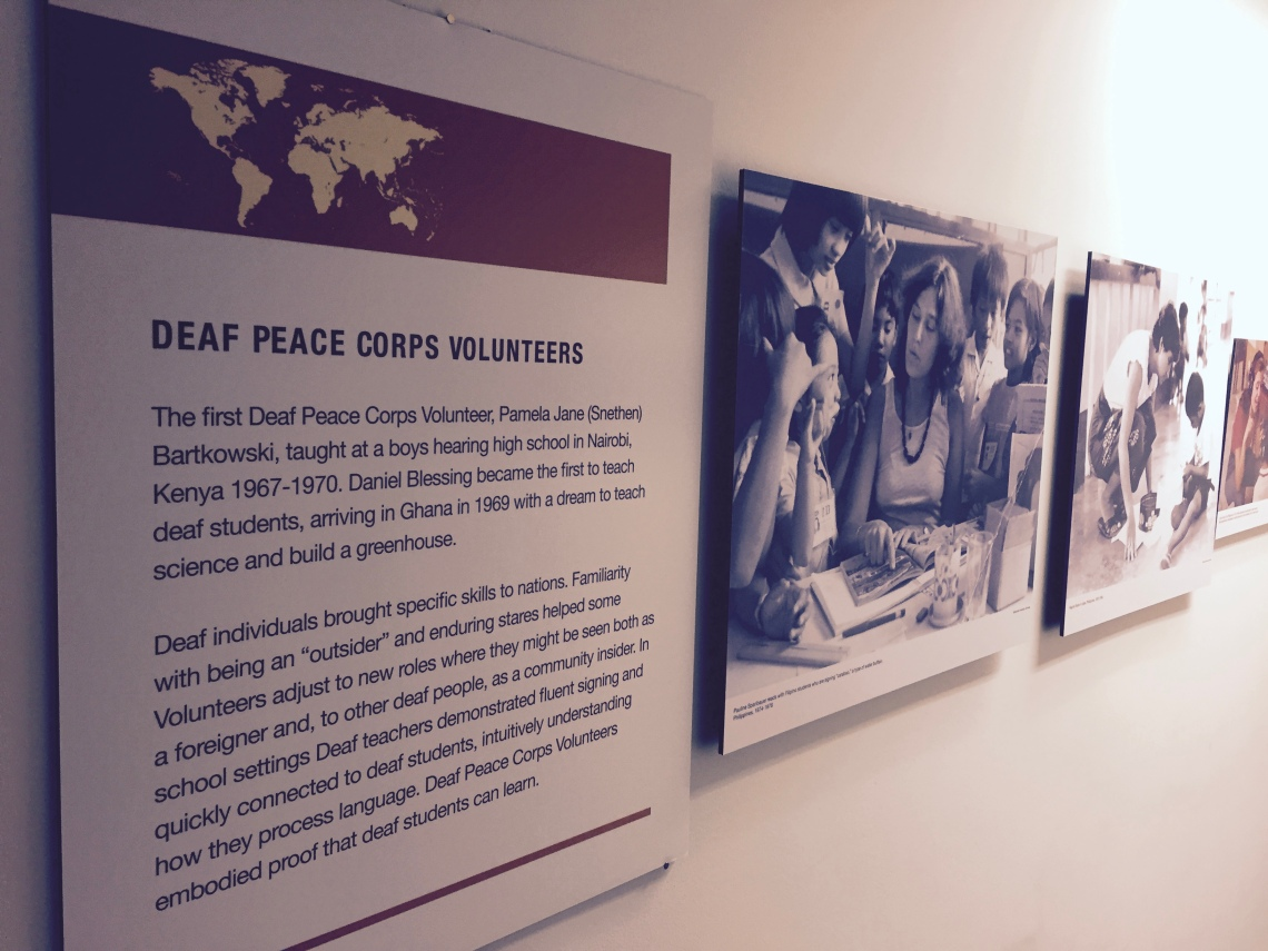 Deaf Peace Corps Volunteers Photo Exhibit Headquarters