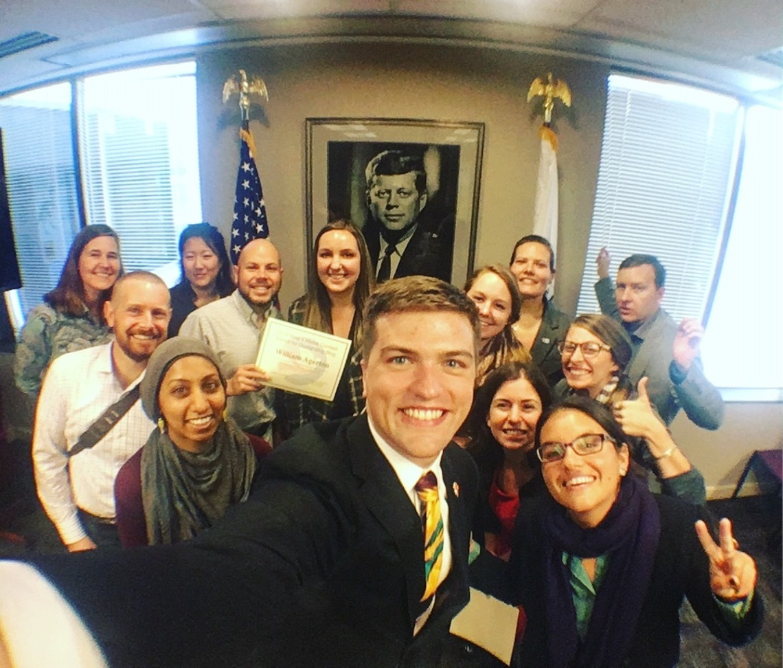 Peace Corps Blog It Home Winners in HQ with JFK